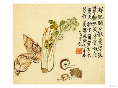 Flowers and Bird, Vegetables and Fruits