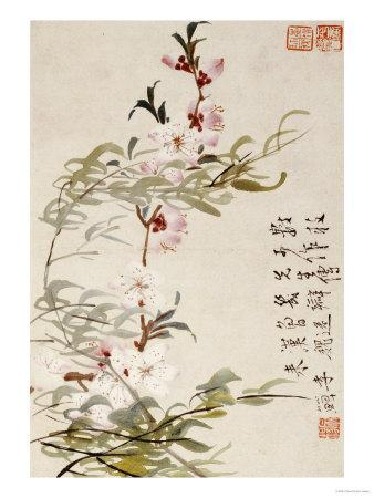 Willow and Peach Blossoms
