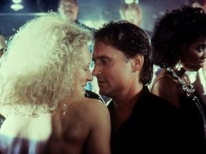 Liaison fatale Fatal attraction by Adrian Lyne with Glenn Close and Michael Douglas, 1987 (photo)