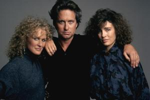 Liaison fatale Fatal attraction by Adrian Lyne with Glenn Close, Michael Douglas and Anne Archer, 1