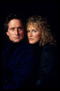 Liaison fatale Fatal attraction by Adrian Lyne with Michael Douglas and Glenn Close, 1987 (photo)