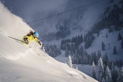 Female Skier In Utah