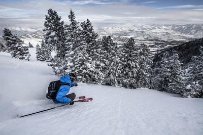 Male Skier In Utah