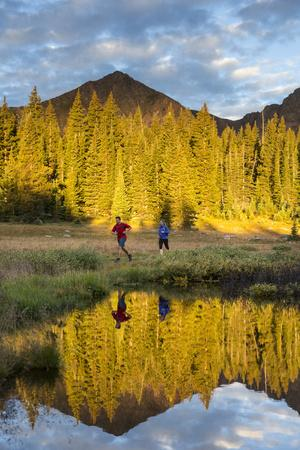 Trail Runners In The Eagles Nest Wilderness In Colorado