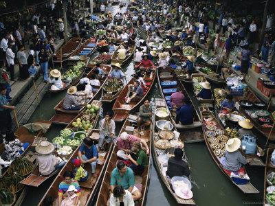 Floating Market, Near Bangkok, Thailand, Southeast Asia