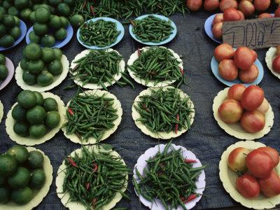 Vegetables in the Market, Chiang Mai, Thailand, Southeast Asia