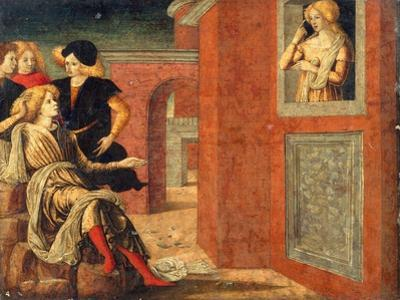 Scene from a Novella, c.1475 by Liberale da Verona