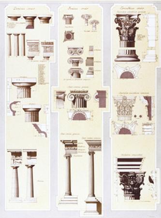 Columns Study by Libero Patrignani