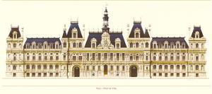 Paris, Hotel de Ville by Libero Patrignani