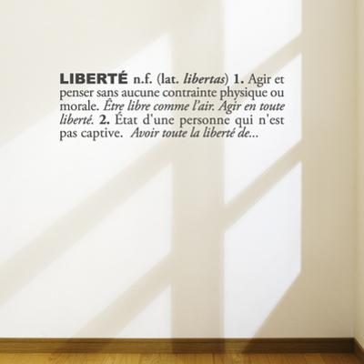 Libert?french) Wall Decal