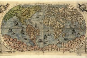 16th Century World Map by Library of Congress
