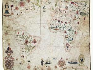 17th Century Nautical Map of the Atlantic by Library of Congress