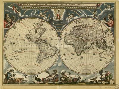 17th Century World Map