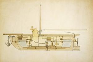 19th Century Military Submarine, Artwork by Library of Congress