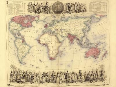 British Empire World Map, 19th Century