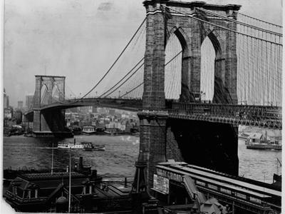 Brooklyn Bridge, New York by Library of Congress