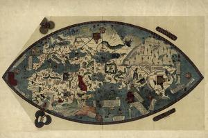 Genoese World Map, 1450 by Library of Congress