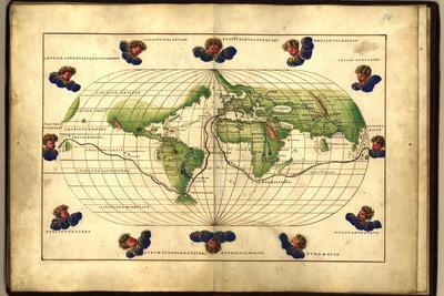 Magellan's Route, 16th Century Map