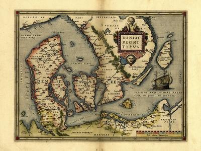 Ortelius's Map of Denmark, 1570