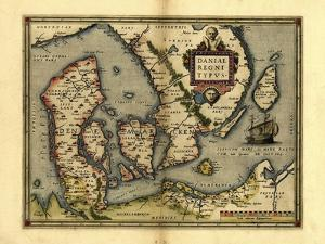Ortelius's Map of Denmark, 1570 by Library of Congress