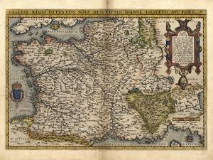 Ortelius's Map of France, 1570 by Library of Congress