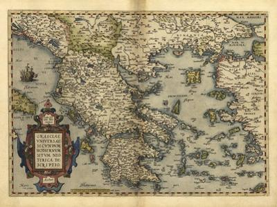 Ortelius's Map of Greece, 1570 by Library of Congress