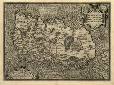 Ortelius's Map of Ireland, 1598 by Library of Congress
