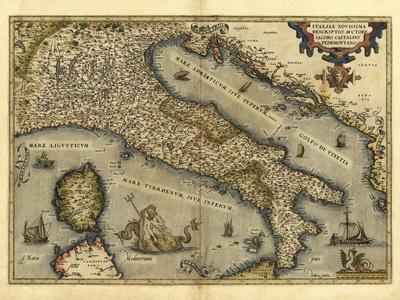 Ortelius's Map of Italy, 1570