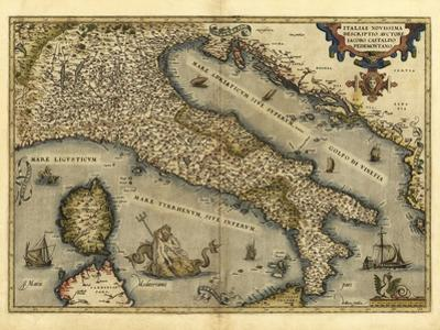 Ortelius's Map of Italy, 1570 by Library of Congress