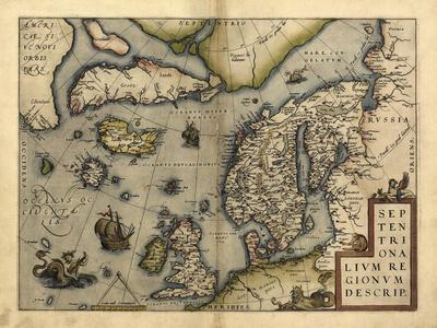 Ortelius's Map of Northern Europe, 1570