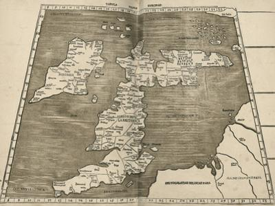 Ptolemy's Map of Britain, 16th Century by Library of Congress