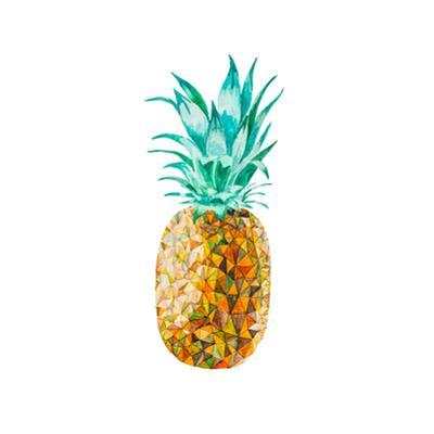Low Poly Watercolor Pineapple by lidiapuica