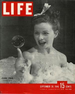 LIFE Actress Jeanne Crain 1946