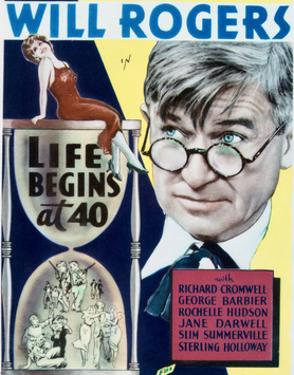 Life Begins at Forty - Movie Poster Reproduction