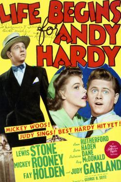 Life Begins for Andy Hardy - Movie Poster Reproduction