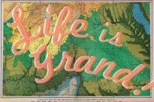 Life is Grand - 1882, Grand Canyon Map - The Mesozoic Terraces