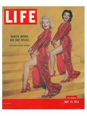 LIFE Marilyn & Jane Russel