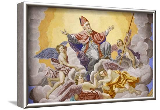 Life of St. Nicolas in Saint-Nicolas de Veroce church, Haute Savoie, France-Godong-Framed Photographic Print