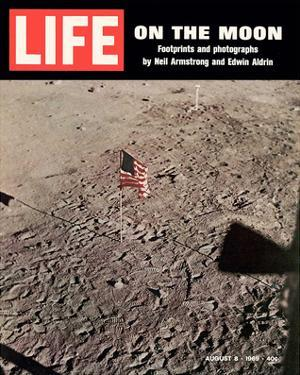 LIFE On the Moon-Footprints