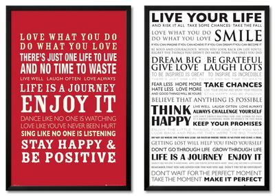 Life Quote Framed Set