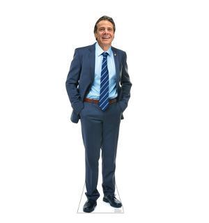 Life-size cardboard standee of New York Governor Andrew Cuomo standing 71 inches tall.