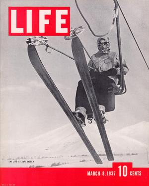 LIFE Sun Valley Ski Lift 1937