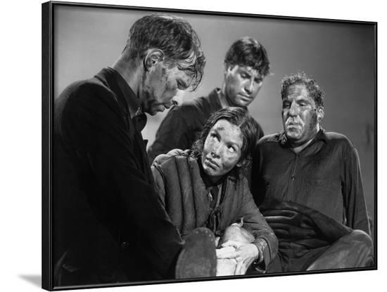 Lifeboat by Alfred Hitchcock with Hume Cronyn, Mary Anderson, John Hodiak and William Bendix., 1944--Framed Photo