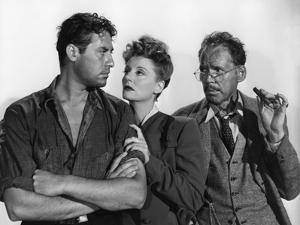 Lifeboat by Alfred Hitchcock with John Hodiak, Tallulah Bankhead and Henry Hull., 1944 (b/w photo)