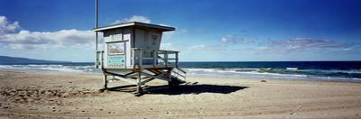 Lifeguard Hut on the Beach, 8th Street Lifeguard Station, Manhattan Beach, Los Angeles County, C...