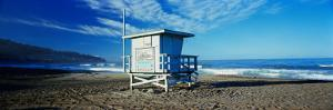Lifeguard Hut on the Beach, Torrance Beach, Torrance, Los Angeles County, California, USA