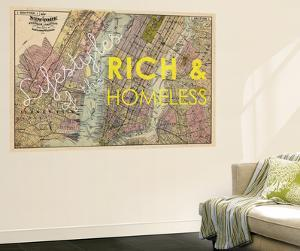 Lifestyles of the Rich & Homeless - 1891, New York, Brooklyn, & Jersey City Map