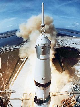 Lift Off of Apollo 11 Mission, with Neil Armstrong, Michael Collins, Edwin Buzz Aldrin, July 1969