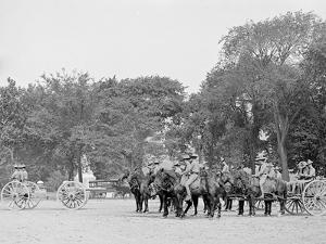 Light Artillery Drill, Horse Battery, at Ease, United States Military Academy, West Point, N.Y.