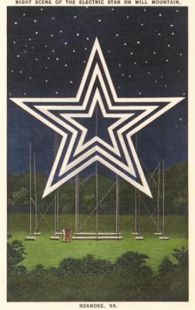 Lighted Star, Mill Mountain, Roanoke, Virginia